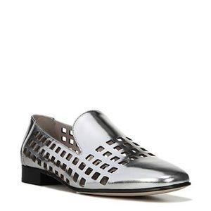 Diane Von Fursteberg DVF Linz Silver Loafer